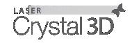 Logo Crystal 3D cinza