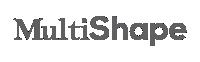 Logo Multishape cinza